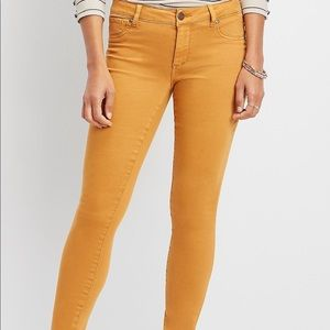 New with tags Maurices honey mustard Jeggings